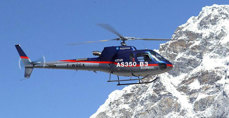 Eurocopter AS350 B3 на пути к Эвересту